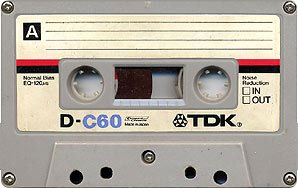 C60 cassette with 30 minutes of recording on each side. (photo wikipedia commons)