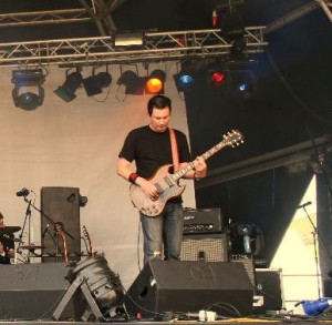 Johnny Sharp has played big festivals as well as local gigs